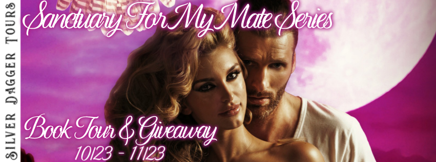 Book Tour Banner for the Sanctuary for My Mate paranormal romance series by Terri A. Wilson with a Book Tour Giveaway