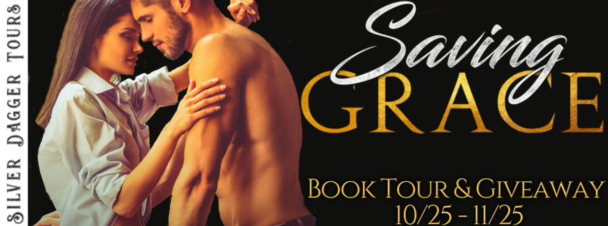 Book Tour Banner for contemporary romance novel Saving Grace from the Broken Heart series by Vi Carter with a Book Tour Giveaway