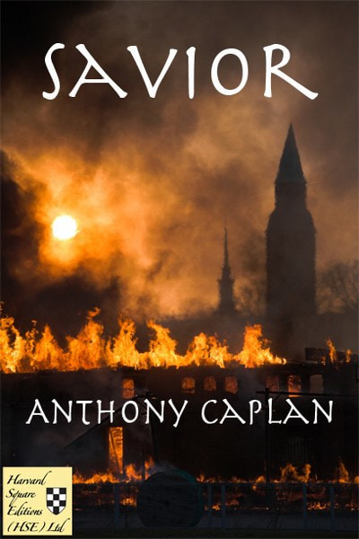 Book Cover for science fiction novel Savior from The Jonah Trilogy by Anthony Caplan.