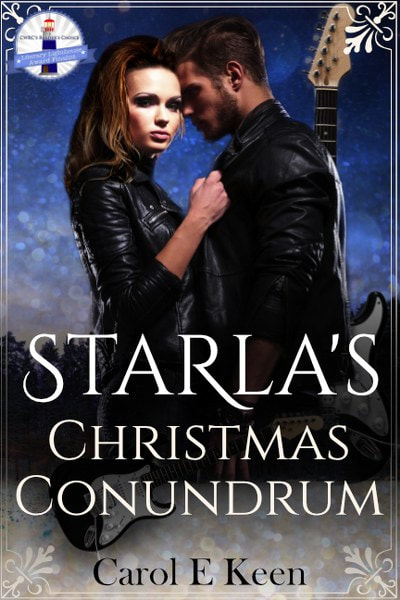 Book Cover for contemporary romance novel Starla's Christmas Conundrum by Carol E. Keen.