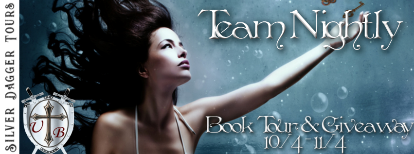 Book Tour Banner for urban fantasy series Team Nightly by Kate Porter with a Book Tour Giveaway