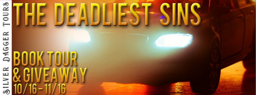 Book Tour Banner for mystery The Deadliest Sins from the  Jack Murphy thriller series by Rick Reed with a Book Tour Giveaway