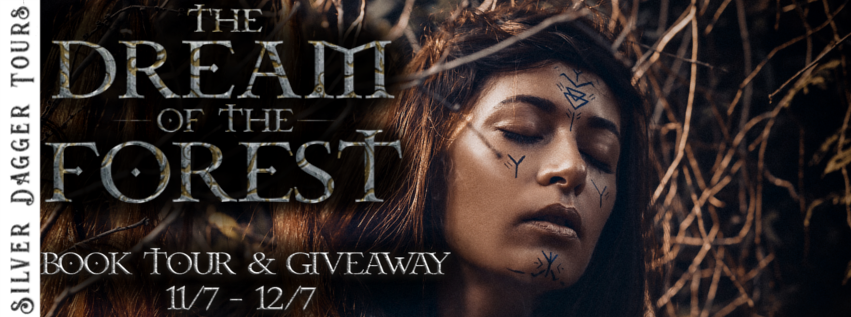 Book Tour Banner for scifi/ romantic adventure novel The Dream of the Forest by Stjepan Varesevac-Cobets with a Book Tour Giveaway