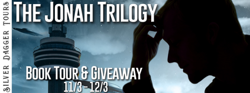 Book Tour Banner for science fiction The Jonah Trilogy by Anthony Caplan  with a Book Tour Giveaway