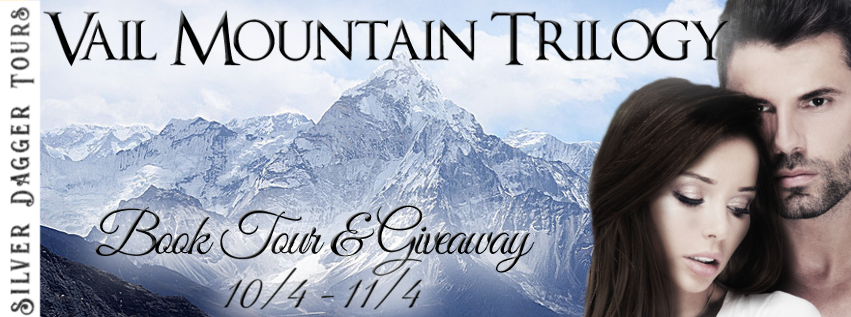 Book Tour Banner for romantic suspense The Vail Mountain Trilogy by Desiree L. Scott series by Linda Ladd with a Book Tour Giveaway