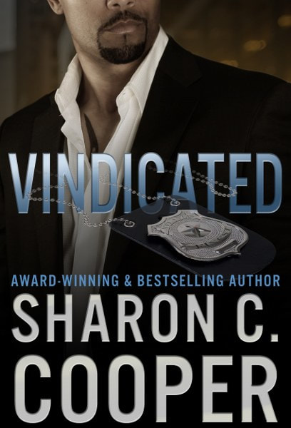 Book Cover for Vindicated from the Atlanta's Finest romantic suspense series by Sharon C. Cooper.